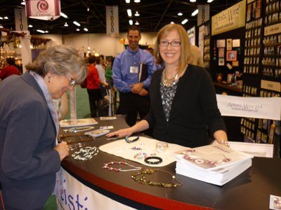Katie Hacker at the Beadalon Booth at CHA Winter 2012